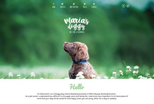 Example Website, Maria's Doggy Day Care