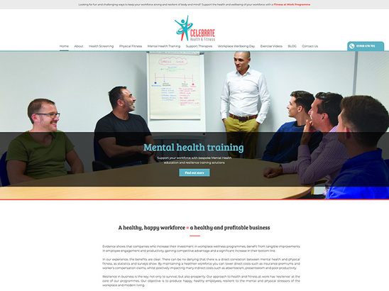 Example Website, Celebrate Health & Fitness