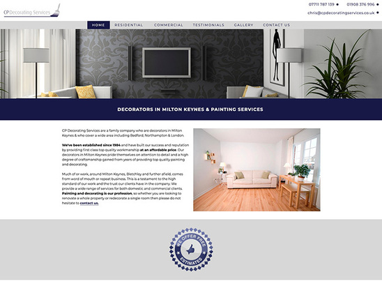 Example Website, CP Decorating Services