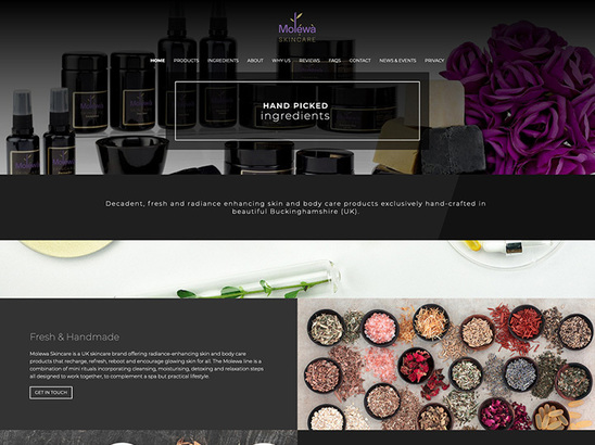 Example Website, Molewa Skincare