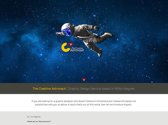 Example Website, The Creative Astronaut