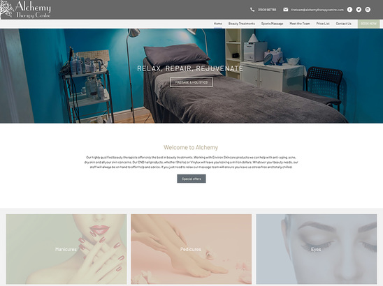 Example Website, Alchemy Therapy Centre