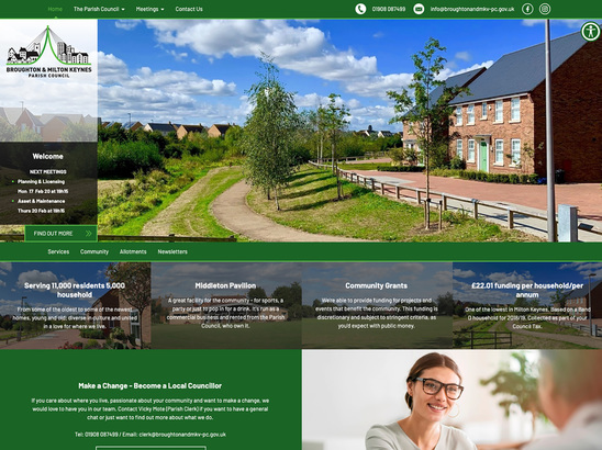 Example Website, Broughton & Milton Keynes Village Parish Council
