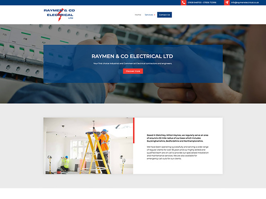 Example Website, Raymen & Co Electrical