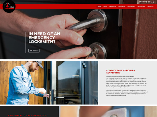 Example Website, Safe as Houses Locksmiths