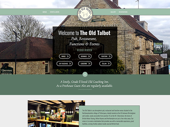 Example Website, The Old Talbot